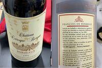 この画像のワイン 詳しい方教えて下さい。 名前や元値価格や現在の相場などお願い致します。  わかる限りだと 輸入業者 エノテカ株式会社 フランス ボルドー産 1996 容量 750ml アルコール 14度 chateau lasoque bergea スペル間違っていたら すみません。 あとは プラスチックのケースに入ってる。 以上 よろしくお願いします。