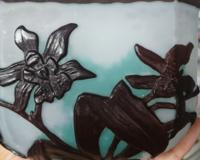 植物に詳しい方、教えてください。 花器の図柄です。 水仙or蘭、または他の植物か? 花の種類を教えてください。