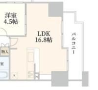 4人家族の家具の配置を悩んでいます (窓は東に面しています) 北の柱の左にテレビを配置すると真ん中にソファーですが L字ソファーの場合どの向きに置くべきか  冷蔵庫はコンロの前でいいのか? 食器棚は...