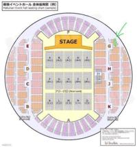 幕張メッセの席なんですが… 『3階 H席 16列 19番20番』  これはハズレ席ですか?  ステージの人達は見えるでしょうか?  緑の線は関係ありません