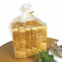 画像の様に袋のまま食パン同士がくっついたまま冷凍保存をすると、取り出した時にパン同士がくっついて凍ってしまいますか?