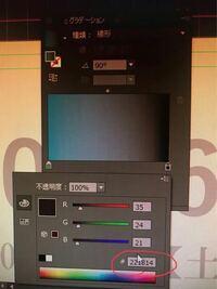 イラレのグラデーションツールでカラーを決めるとき、RGBだとカラースライダー上に#(16進数カラーコードの入力欄)が表示されますが、CMYKでは#が表示されません。 なぜでしょうか?