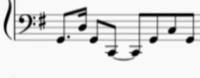 ヘ音記号の解読をお願いします!! 1つの音符が何分音符なのかも教えてください。。