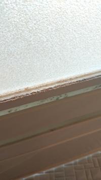浴室のドアのゴムパッキンに写真のようなガサガサしたものがこびりついています、カビキラーで多少よくなりましたが、これ以上固く固まっていてとれそうにありません、これは何がこびりついているのでしょう?また、 これを除去する方法はありますか?