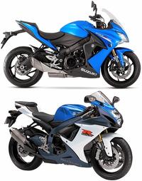 GSX-R750 と GSX-S1000 の2台は ほぼ互角の150馬力の エンジンですが、直線では どちらのが速いですか? GSX-R750 https://bike-lineage.org/suzuki/gsx-r750/2011gsx-r750.html GSX-S1000 https://bike-lineage.org/suzuki/gsx-s1000/s1000.html