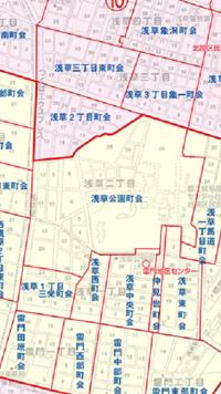 浅草神社例大祭(三社祭)で浅草神社の氏子町会には「宮元町会」という名の町会はありませんが、もしあるとすればどこの町会が当てはまるのでしょうか?台東区の町会区域地図を見ると浅草神社、浅草寺は浅草公園町...