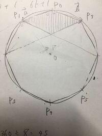 図形の斜線部分のところが平行四辺形であることを証明せよ。 ただし、図形は正八角形とする。