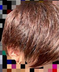 現在このような茶髪なのですが、市販の青のカラー剤を使ったら青色は入りますか?