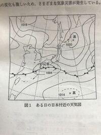 地学基礎 日本の気象 この天気図の解説で、 「西日本は低気圧や梅雨前線の影響により、雲が広がっていると考えられる。」 とあったのですが、どうして雲が広がっていると分かるのでしょうか。教えてください。