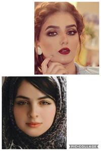 画像のような中東系の顔に憧れていて、こんな顔に寄せたいんですけど、特徴を押さえるとなるとどんな事をすればいいですか?? (メイクやマッサージなど) 自分は顔の輪郭が下の女性とそっく りなのですが、目が小さいためシンプルに顔のデカい人になってしまってます。ので、上の女性のようなやや頬のこけた感じがいいなと思ってます。 整形に偏見がある訳ではないですが、するつもりは基本ありません。 道の...