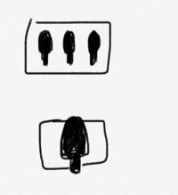フィルムカメラの使い方がわかりません。 シャッターボタンの下にある2つのボタンがあるのですが、これはどういう機能なのか詳しい方教えてください!!(絵での説明で申し訳ありません)