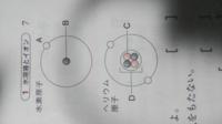 「図は水素原子とヘリウム原子の構造を表したものであり、Cは電気を持たない亅という問題でA電子B陽子C中性紙D原子核となっていました。Bは原子核じゃないんですか?