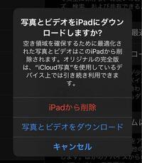 iPhoneとiPadで、iCloud写真の同期をしなくするために、iPad側で「iPadから削除」を選択すると、iPhone側の写真は残りますよね?iPadの方のみ削除され、iPhone側は削除されないということですか?