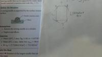流体力学の表面張力の問題です。F=σL(σが表面張力?でLが面の外周?)だとおもいましたが、 テキストにはF=σ2Lcosθ (cosθは鉛直方向の成分を求めるため) とありました。テキストには、英語ですが、L is the length of the needle とあります。私の手書きに表しましたが、ABの長さを考慮する必要はないのでしょうか。私が英語を勘違いしているのでしょうか。 回答...