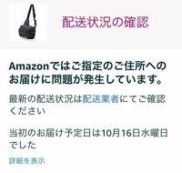 アマゾンで注文した商品の配送状況を確認するために昨日注文履歴を開くとこの画像が表示されました。 下に再配達を依頼する というボタンがあったので今日の16:00〜18:00で再配達を依頼したのですが、今日注文履歴を開くとまた昨日と同じくこの画像が表示されました。 これは待っていても商品は届かないでしょうか? もうどうすれば商品が届くのかわかりません。 同じようなことになったことがある方いました...