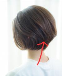 この写真の髪型のように真ん中でカットされてる髪型を何カットというんですか? よく見るとこの方は襟足まで伸ばしっぱなしではなく矢印の真ん中の所もカットしてますよね?