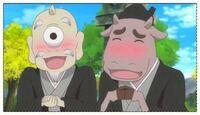 アニメ夏目友人帳について質問です。 夏目に中級と呼ばれているコンビの妖怪達の初登場が何話だったか、覚えている人は居ますか?