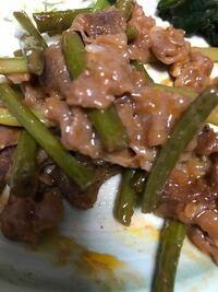 画像の牛カルビとニンニクの芽炒めですが味付けは何ですか?
