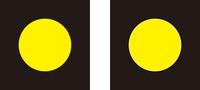 フォトショップのレイヤーの境に関して 左の画像のようなデザインでTシャツを作りたいので黄色い部分と黒い部分それぞれのデーターを入稿する必要があり、レイヤーを作成し黒と黄色をそれぞれ消しゴムで消し、レ...