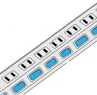 電源タップ 一括スイッチ で時々数個のコンセントがスイッチを入れてもランプが点きません、 また、ランプが点かないのでコンセントに電気が来ていません。 6個のうち4個です。 どうすれば直りますか? スイッ...