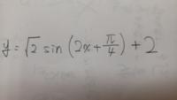 三角関数のグラフについてです。 下の式をグラフに書く時、どうのようにしたら素早くグラフを作れますか。  手順やコツ、裏技などあれば是非御教授願います。