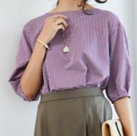 このカットソーはどんな季節に着られますか? 薄いラベンダーと、紫っぽいピンクのストライプ柄の2色があります。  五分袖~七分袖ってどんなときに着ればいいのかわかりません。