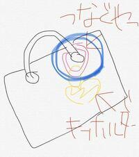 この青い丸で囲ったキーホルダーと鞄をつなぐやつの名前わかりますか?