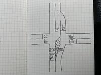 この交差点に信号や一時停止の標識などはありません。 この場合、Aが走っている道路のセンターラインが交差点内に入っているので、優先道路を走行しているという認識でよろしいのでしょうか。 よろしくお願いします。