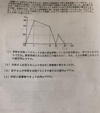 小学生6年生の算数の問題です。 このようなグラフでの解き方をどうぞわかりやすく教えてください。 どうぞよろしく願いします。