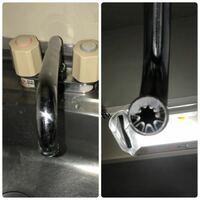 このタイプに付けられる節水シャワーヘッドってないんですかね? キッチンシャワー 蛇口 水栓 蛇口用 台所 節水 スイング