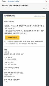 これは迷惑メールですか? 差出人は【no-reply@amazon.co.jp】となっています。