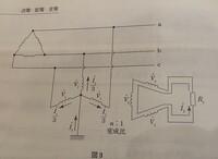 接地変圧器の解説 図3を見ると配電線a,b,cがV1∠θで同相になってしまうと思うのですが,どうなんでしょうか?