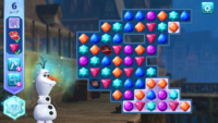 アナ雪の、フローズンアドベンチャーというパズルゲームについて質問です。  画像はレベル89なのですが、青いフィールド(地面)を、氷のフィールドに変える条件がいまいち分かりません。 画像 で言うと、石炭と...