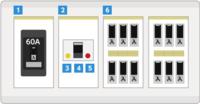 ブレーカーの漏電に付いてですが 例えば画像ので説明すると⑥番の漏電箇所のスイッチをOFFにしてたら直すまでそのまま使っても大丈夫ですか? 一応漏電後に⑥のスイッチをOFFにしても直さないと料金や他の箇所にも負担掛かったり等するのですか?又は火災とか