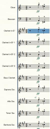 Finale 25で楽譜を書いています。 パソコン環境はWindows10です。 in Cの実音表記のパートをin Bb、in Esといった移調楽器にコピーペーストすると、写真の様にやたらダブルシャープ、ダブルフラットが出てきます...