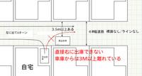 駐車違反かどうかについて質問です。図のように、住宅地に道幅6mの道路があります。標識はなく、ラインも書いていない道路です。両サイドに戸建ての家が並んでいます。 自宅の駐車場から右のほうへ車を出したいのですが、図のように路上駐車の車が止まっていて直接右に車庫を出れません。左へ曲がって先の道でUターンをして右へ出ています。頻繁にこのような駐車をされるので、警察へ通報したいのですが、交通違反として...