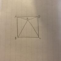 四角形ABCDは正方形、三角形EBCが正三角形の時、どうしてEB=AB、EC=DCだと分かるんですか?  わかりやすくおねがいします!