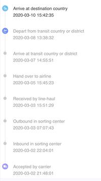 Aliexpress 追跡について 「現地の運送会社による配達」から一週間動きません。 どうような状況が考えられるでしょうか? 配達予測時間は 3/15~4/3 になります。  ◆思い当たる節がありまして・・・ 「アパートやマンション名、号室」を記入する欄に「町・区以降」を記入 「町・区以降」を記入する欄に「郵便番号」を記入してしまったようです。(郵便番号の欄も含め2箇所記入)...