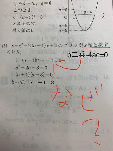 二次関数の質問です。 定数aの値を求める問題です。 教えてください