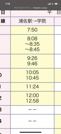 バスの時刻表について。 この春からはじめて学校の無料送迎バスを使って登校します。 上の方に新幹線や電車のダイヤに合わせて運行すると書いてありました。8時35分に駅につき、そこからバス 停に向かうのに5分はかかると思うのですが、それでも必ずこのバスに乗ることができるるんでしょうか。