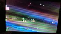 ポータブルDVDプレイヤーでDVDを再生しようとしたらこんな画面になりました。何が原因でしょうか? DVDは録画したてで、ディスクには傷はありません。