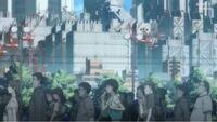 ヱヴァンゲリヲン新劇場版:破 のこちらのシーンで使用されている楽曲名が知りたいです。朝の通勤通学のシーンです。サントラにも収録されておらず困っております。