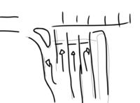 原付の二段階右折について質問です。 道がこのようになってる場合はどこのレーンを通って二段階右折をすればよいのでしょうか? やはり、左折レーンでしょうか?