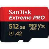 Androidスマホを機種変更するにあたり、microSDカードも新しく購入しようと考えています。 容量が512GBあるものがいいのですが、「microSDXC 512GB SanDisk サンディスク Extreme PRO UHS-1 U3 V30」という商品...