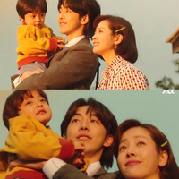 韓国ドラマまぶしくてのテサン(主人公の父親役)の子ども時代を演じた子役の子の名前わかる方がいたら教えて欲しいです^^ 写真でナムジュヒョクさんが抱えている子どもです!