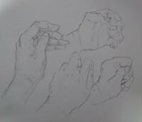 下手なので、見様見真似で手を描く練習をしたのですが、形が狂ってしまいます。手を描くときのコツはありますか?奇形になるので直したいのですが。。