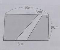 画像の斜線部の面積の解き方わかる方解説お願いします。
