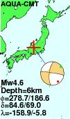 飛騨の地震はマグマの上昇ですか!   発震機構解をみると震源球が4つに割れる横ズレ地震のようですが、横ズレと言うよりマグマで地面が押し除けられてるような感じですよねー