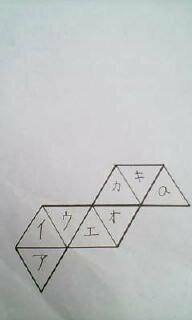 図のような正八面体を作ったとき、キ以外で面aと接している面はどれか?  答え 1、アとイ 2、アとオ 3、イとウ 4、イとオ 5、アとエ  回答よろしくお願い致します。