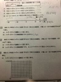 変位と移動距離について質問です。今最初の問題なんですけど変位を求める式=移動距離を求める式として解いたんですけどあってるんですか?24番のbです。変位の式は初速度×時刻+2分の一×加速度×時刻二乗ですよ...